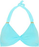 Melissa Odabash Africa Twist-front Bikini Top - Turquoise
