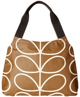 Orla Kiely Matt Laminated Giant Linear Stem Print Classic Zip Shoulder Bag