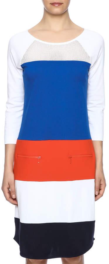 Joan Vass Color Block Dress