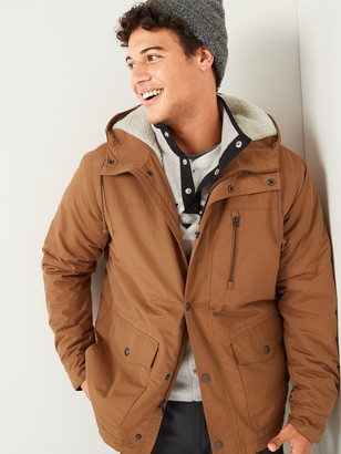 Old Navy Water-Resistant Sherpa-Lined Hooded Jacket for Men