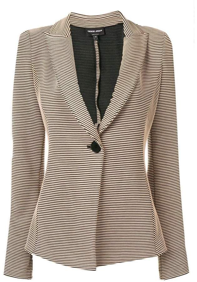 Giorgio Armani striped blazer jacket