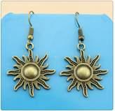 Nobrand No brand Simple Vintage 28*25mm Sun Charm Dangle Earring, Charming Drop Earring