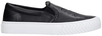 Kenzo K-skate Sneakers In Black Leather