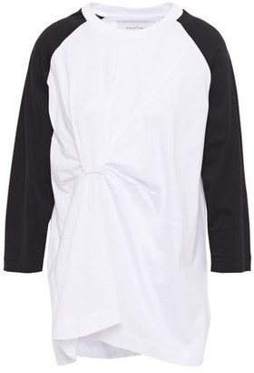 Marques Almeida Marques' Almeida Gathered Cotton-jersey Top