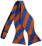 Bestow Fashion Striped Bow Tie Set - Cufflinks Hanky