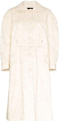 Simone Rocha Brocade Flared Duster Coat