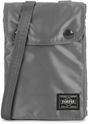 Porter Grey padded nylon cross-body bag