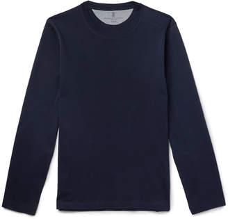 Brunello Cucinelli Cotton-Jersey T-Shirt - Men - Blue