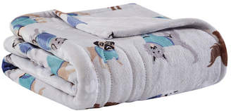"Simmons Oversized Plush 60"" x 70"" Printed Heated Throw Bedding"