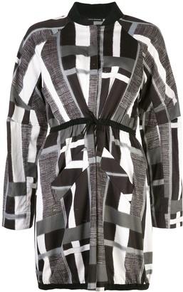 Josie Natori Taisho Stripe Drawstring Jacket