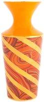 Jonathan Adler Malachite Twist vase, Orange