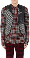 Haider Ackermann MEN'S HOUNDSTOOTH WOOL BIKER VEST