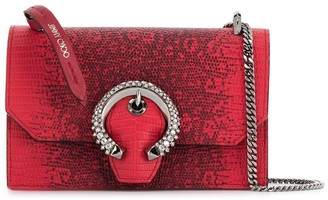Jimmy Choo Paris snake-effect crossbody bag