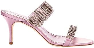 Manolo Blahnik Pink Beopia Embellished Sandal