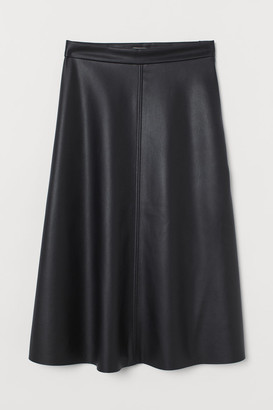 H&M Faux Leather Skirt - Black