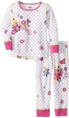 Hot Chillys Kids Midweight Print Set (Toddler) (Flirty/Pop Star) Girl's Active Sets