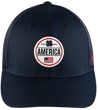 Black Clover Abraham Adjustable Hat (Patch Clover/Navy) Baseball Caps