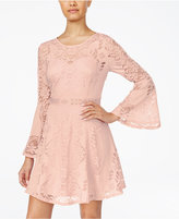 American Rag Bell-Sleeve Burnout Lace Dress, Only at Macy's