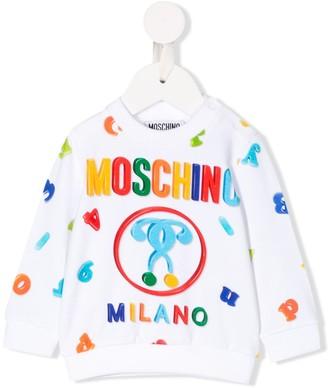 MOSCHINO BAMBINO Logo Alphabet Print Sweatshirt