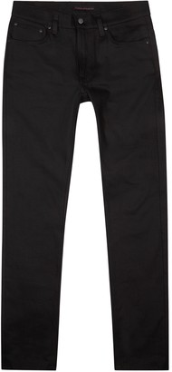 Nudie Jeans Lean Dean slim-leg black jeans