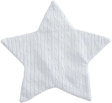 "Elegant Baby ""Blue Cable Star Blankie 12"""" x12"""""""