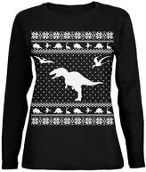 Old Glory Dinosaurs Ugly XMAS Sweater Womens Long Sleeve T-Shirt