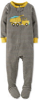 Carter's Baby Boys' 1-Pc. Striped Dump Truck Footed Pajamas