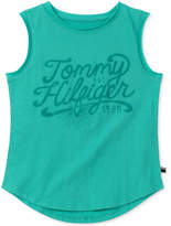Tommy Hilfiger Sleeveless Cotton T-Shirt, Big Girls