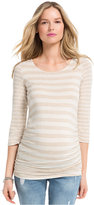 Jessica Simpson Maternity Mixed-Stripe Ruched Top