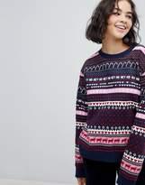 Monki Holidays Fairisle Sweatshirt Sweater