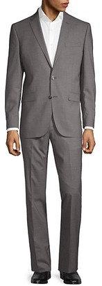 Kenneth Cole Slim-Fit Checkered Wool Suit