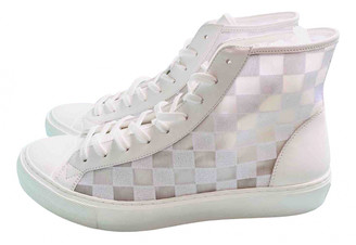 Louis Vuitton White Cloth Trainers