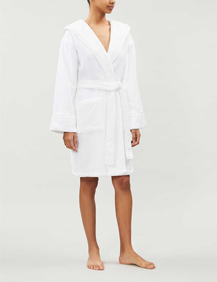 The White Company Hydrocotton hooded dressing gown