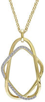 Catherine Malandrino 18K Goldplated and 0.20 TCW Diamonds Interlace Necklace