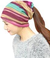 Aniwon Beanie Hat Fashion Colorful Stripe Turban Hats for Women