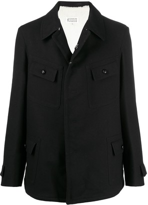 Maison Margiela Notched Collar Shirt Jacket