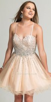 Dave and Johnny Glittering Rhinestone Embellished Cocktail Dress