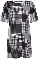 Select Fashion Fashion Womens Grey Mix Check Swing Dress - size 6