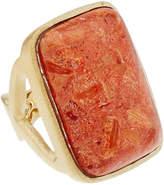 Rivka Friedman 18K Clad Coral Ring
