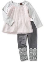 Tea Collection Toddler Girl's Mackenzie Tulle Tunic & Leggings Set