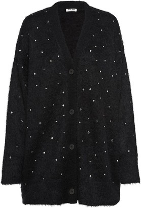 Miu Miu embellished oversized cardigan