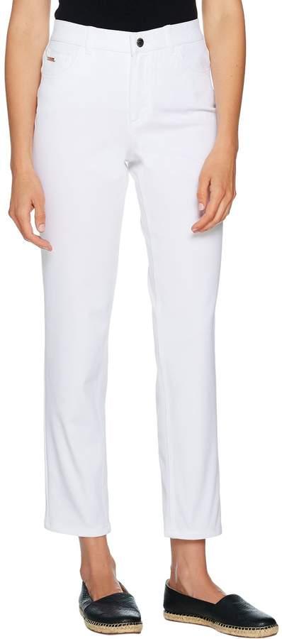 Halston H By H by Regular Studio Stretch 5-Pocket Ankle Pants