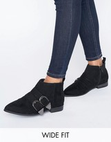 Asos ANGLIFY Wide Fit Pointed Ankle Boots