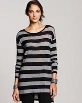 BCBGMAXAZRIA Striped Tunic Top