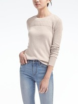 Banana Republic Silk Cashmere Pointelle Crew