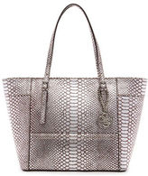 GUESS Delaney Small Python Embossed Tote