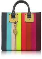 Sophie Hulme Rainbow Albion Saddle Leather Square Tote