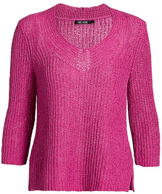 Nic+Zoe Petites Magnolia Open-Weave Sweater