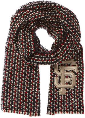 Gucci Sf Giants Logo Wool-Blend Scarf