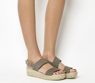 Gaimo for OFFICE Ig3 Flatform Sandals Grey Suede